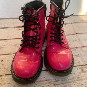 Doc Martens Delaney Boots Hot Pink